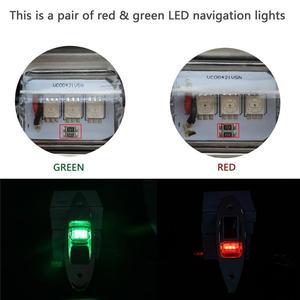Image 5 - 1 ペア 12V フラッシュマウントマリンボート RV 側ナビゲーション光赤緑の Led ステンレス鋼ヨットサイド弓涙ランプ