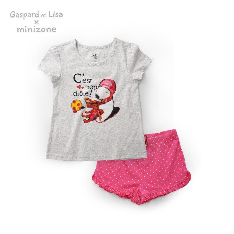 Buy Gaspard Et Lisa Design Cotton Baby Kids Clothing Sets Boy Girl Tshirt +Pants Children Short Sleeve Summer Clothes Tees T-Shirt