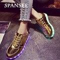 Tamaño 30-45 zapatillas de deporte con la única luz brillante spansee kids shoes sneakers shoes luminoso hacer infantil cesta femme led zapatillas