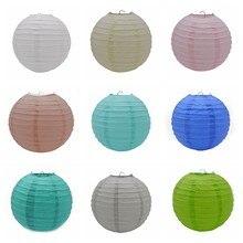 1 sztuk 20cm/25cm/30cm kolorowe chińskie okrągłe, wiszące lampiony papierowe u nas państwo lampy rzemiosło papierowe Party festiwal ślub dekoracje dla domu