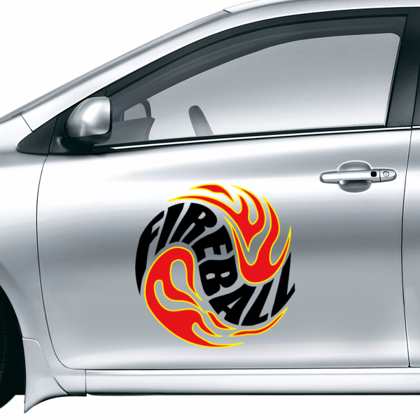 Fashion FIREBALL Vinyl Car Sticker Waterproof Reflective Decal Custom Car Decoration Wall Decor