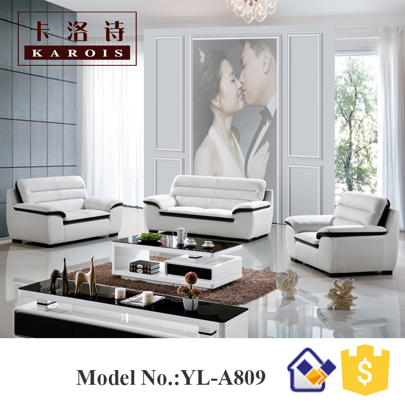 Home Furniture Belgium Modern Microfiber Leather Modern White Couches Sofa