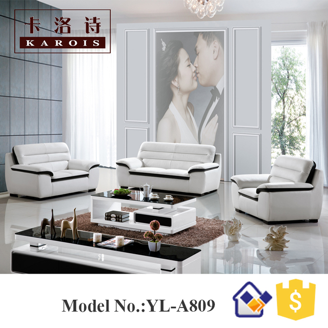 Home Furniture Belgium Modern Microfiber Leather Modern White Couches Sofa