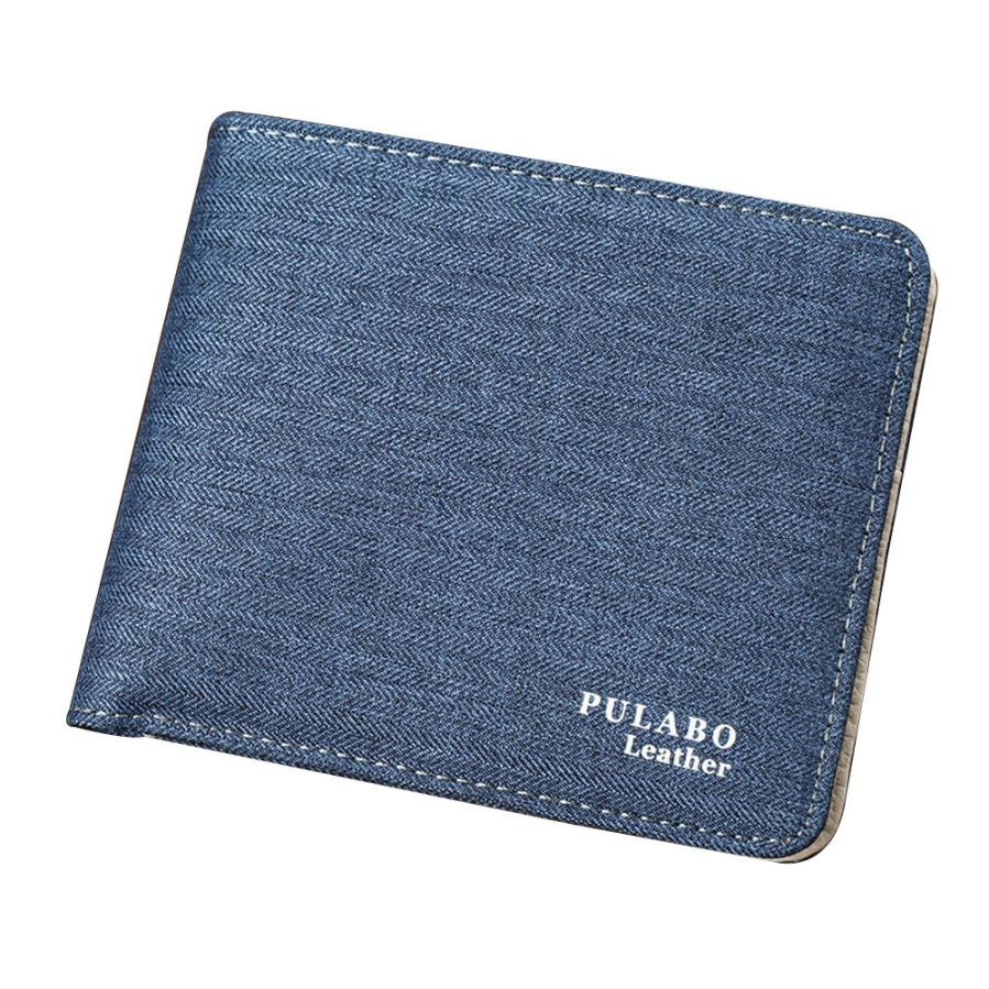 Men Embossing Canvas Wallet Credit Card ID Coin Holder Money Clip Wallet Porte Monnaie Drop Shipping