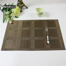 2Pcs/lot PVC Tableware Pad Dining Table Heat Resistant Placemat Kitchen Tool Coaster Coffee Tea Place Mat Europe Style