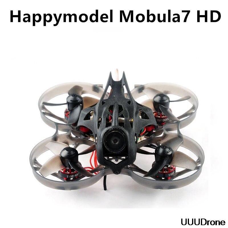 Happymodel Mobula7 HD 75 2-3 S mm Crazybee F4 Pro Grito Corrida Zangão FPV PNP BNF w/ tartaruga CADDX V2 Câmera HD