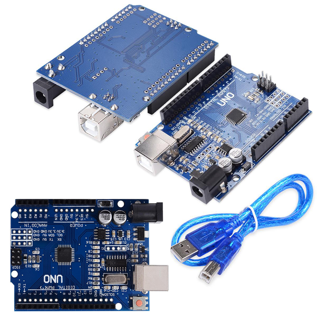 Arduino Compatible UNO R3 CH340G ATMEGA328P with USB Cable and Male Pin Headers
