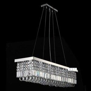 Image 5 - Lengte 1500mm NIEUWE Moderne Kristallen Kroonluchter voor eetkamer Rechthoek Kristal Kroonluchter armatuur