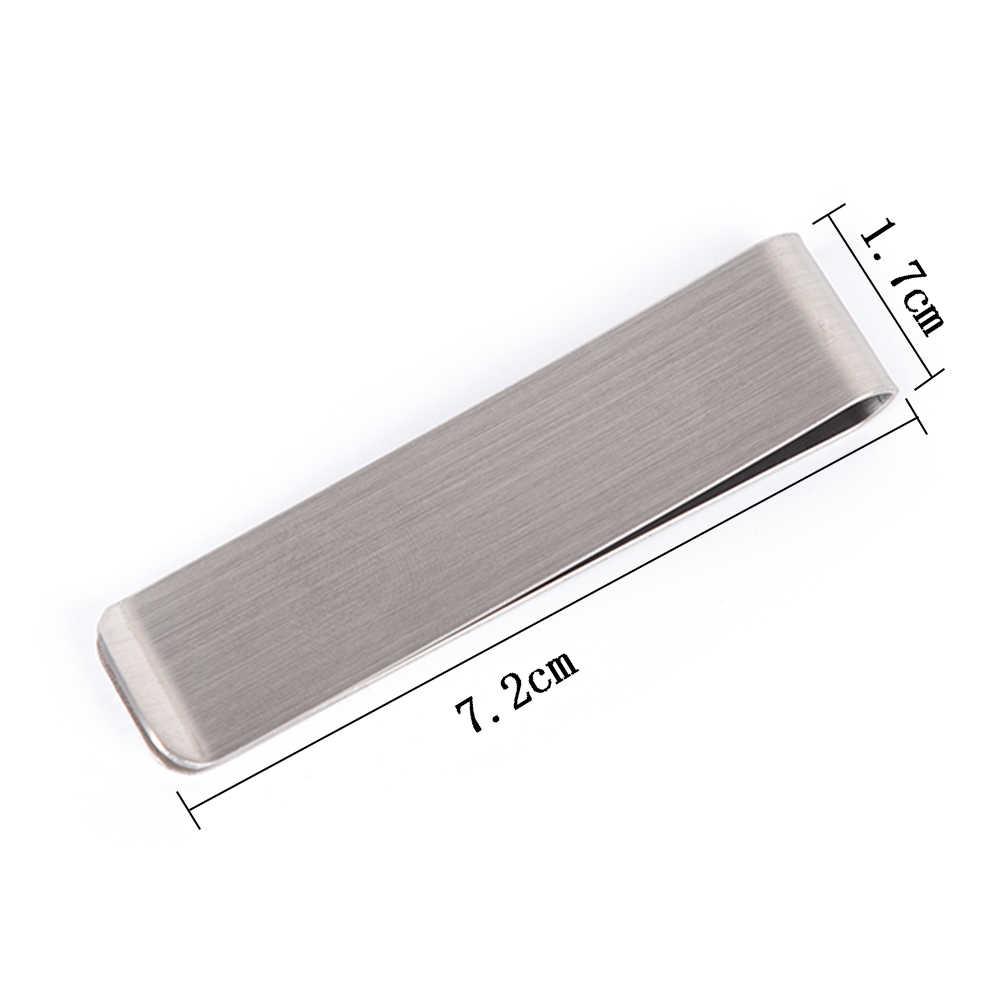 1 Pza nueva llegada moda Simple dólar efectivo abrazadera soporte cartera para hombres acero inoxidable Metal dinero Clip 2 colores 7,2x1,7 cm
