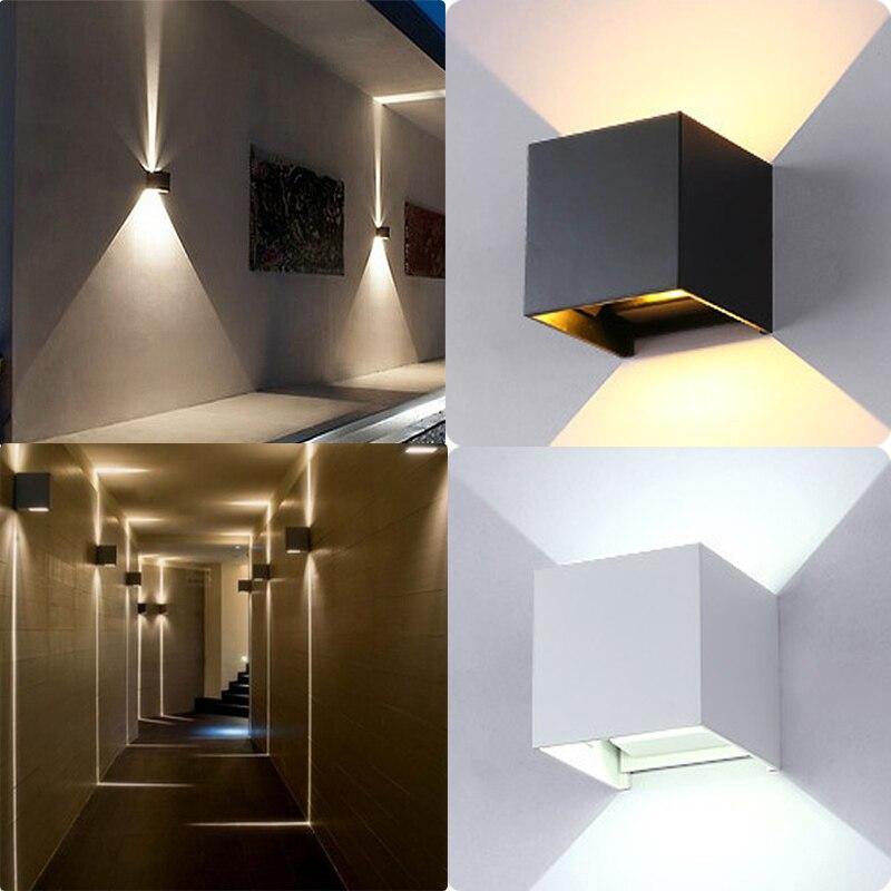 Unparteiisch Led Wand Lampe Wasserdichte Outdoor Indoor Wandleuchter Lampe Walllight Ip67 Oberfläche Montiert Cube Licht Ali88 Led Outdoor-wandlampe