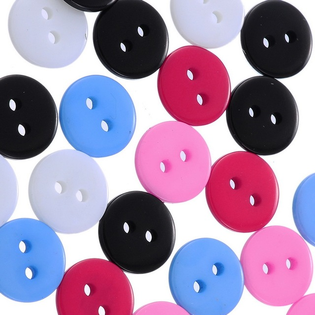 500pcs lot 11mm round resin botton diy buttons china bulk craft