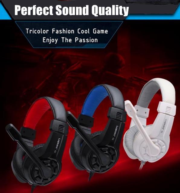 Rabat LPS G1 muzyka Super bas gamingowy zestaw słuchawkowy Casque słuchawka Audio światło słuchawki z mikrofonem na komputer komputer dla graczy