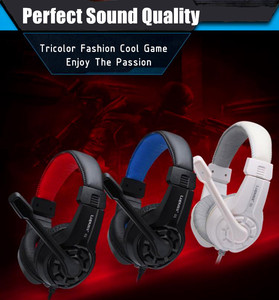 Image 1 - Rabatt LPS G1 Musik Super Bass Gaming Headset Casque Audio Kopfhörer Licht Kopfhörer mit Mikrofon für Computer PC Gamer
