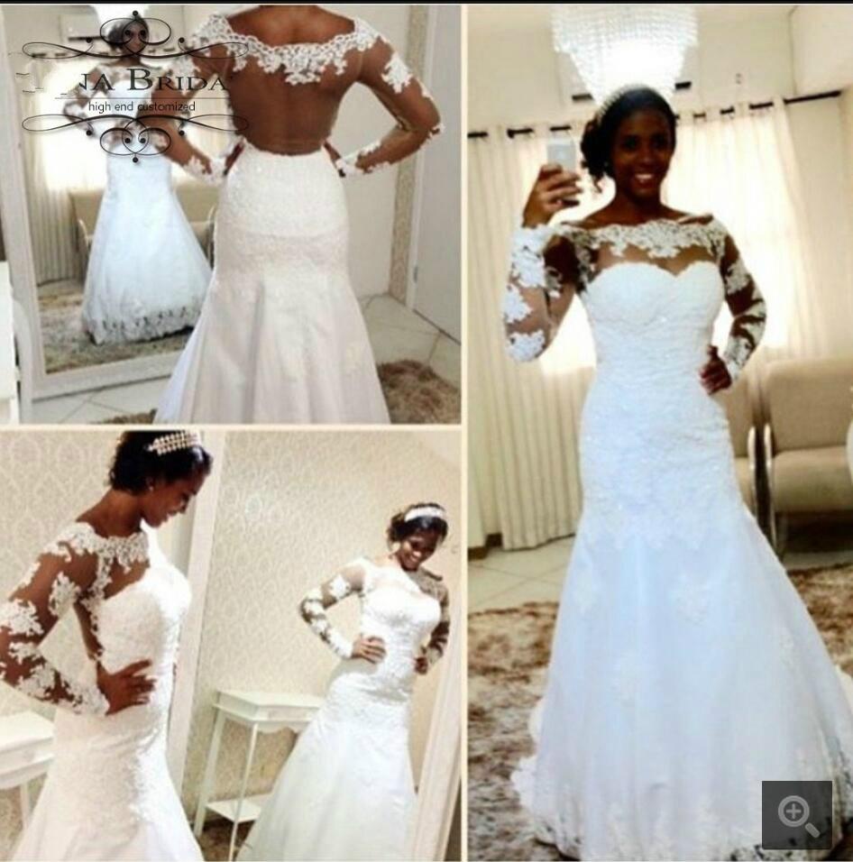 Black Wedding Gowns For Sale: Vestidos De Novia Mermaid Black Lace African Wedding Dress