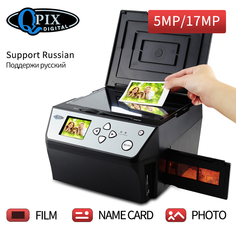 4 dans 1 COMBO 22 Mega Pixels Photo et Numérique 35mm Film Scanner 135 Convertisseur Négative Photo Scanner D'affaires carte Scanner