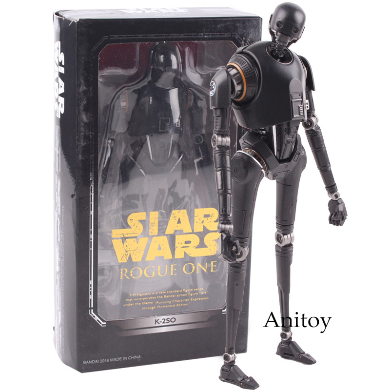 SHF S.H.Figuarts Star Wars Figure Star Wars Action Figure Rogue One Toys K-2SO PVC Action Figures Collectible Model Black Series ksz326 star wars rogue one toys jango phasma jyn erso k 2so darth vader general grievous figure toy building blocks toys