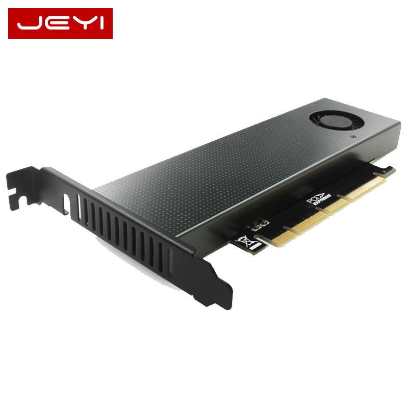 JEYI SK8-NEW Add On Card M.2 NVMe Adapter To PCIE3.0 GEN3 M.3 Built-in Turbo Fan For 2230-22110 Size NVME GEN3 M.3