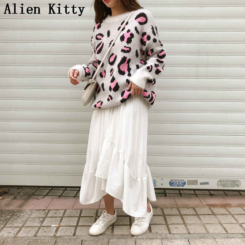 Alien Kitty Winter Pullover Outwear Stylish Simple New Loose Casual Fresh Knitted Thicken All-Match High Quality Elegant Sweater