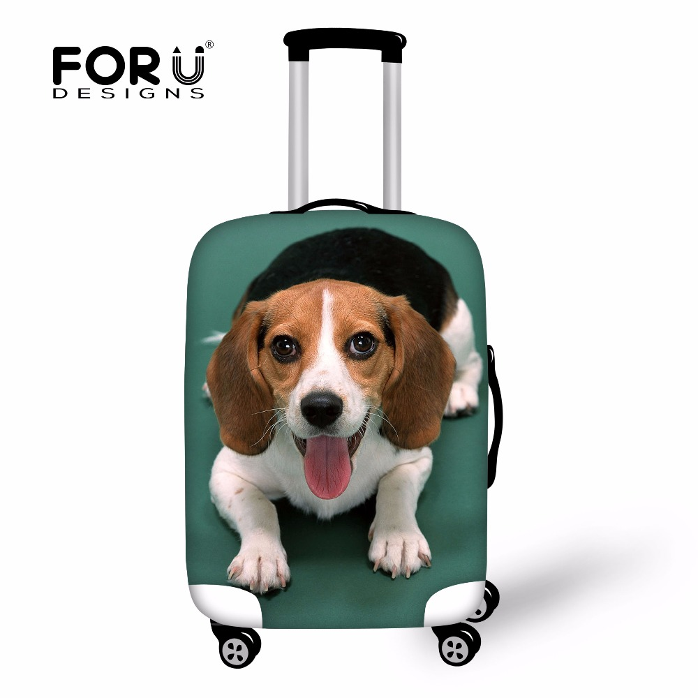 FORUDESIGNS Beagle Print Case Cover Cat Dog Protective Luggage Flexible Covers Anti-Dust For Travel Trunk With Zipper Wholesale