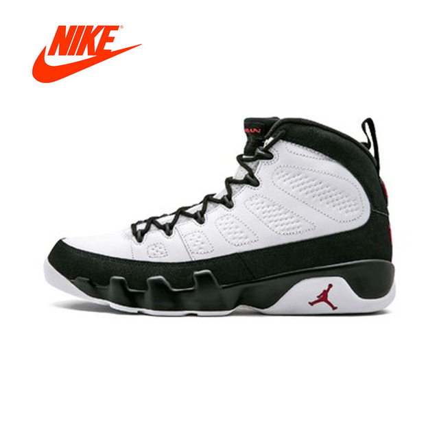 c51cc4dc2ef9 ... buy original 2018 new arrival authentic air jordan 9 white black red  mens basketball shoes 0f4ad
