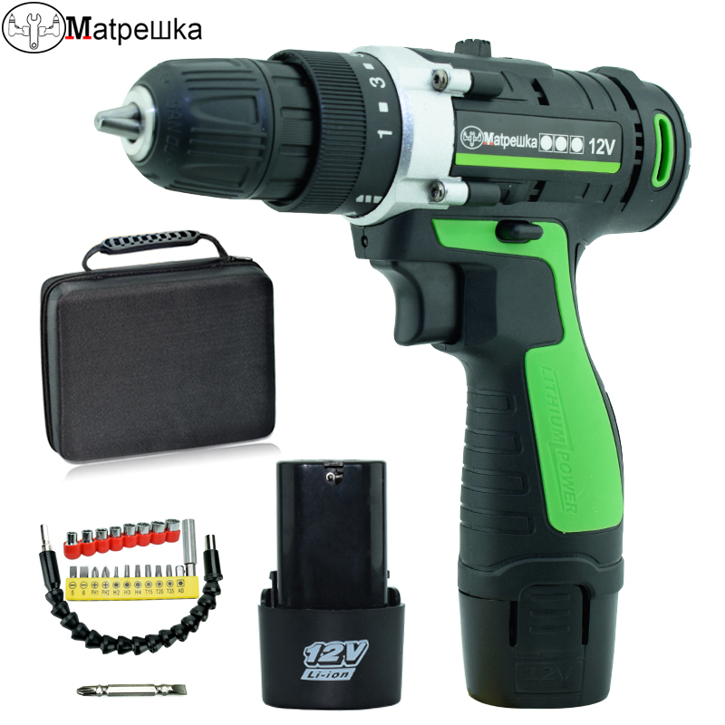 12V cordless electric screwdriver battery mini Electric drill with lithium battery power tools hand drill motor charged drill