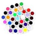 U119   New 36pcs Mix Colors Pots Tips Builder Cover UV Nail Art Gel Manicure Decor Set