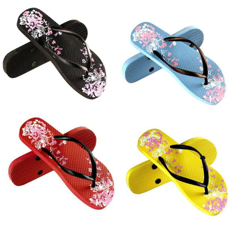 Women Bohemia Floral Flat Shoes Casual Beach Sandals Slippers Flip Flops Women's Slippers Summer Flip Flops Shoes 2017 fashion women slippers summer shoes soft wedge sandals casual bohemia flip flops flat platform slippers pantufa zapatillas