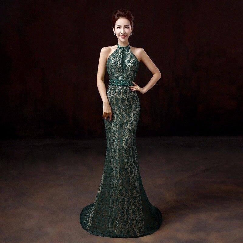 Tamno zelena seksi bez naramenica ular rhinestone rep čipke silm - Nacionalna odjeća - Foto 1