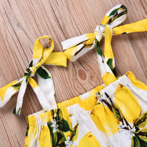 Newborn Baby Girl Summer Clothes Set Sleeveless Floral Printed Crop Tops T-shirt Shorts Briefs Fille Jolie Outfit Clothe 2PCS