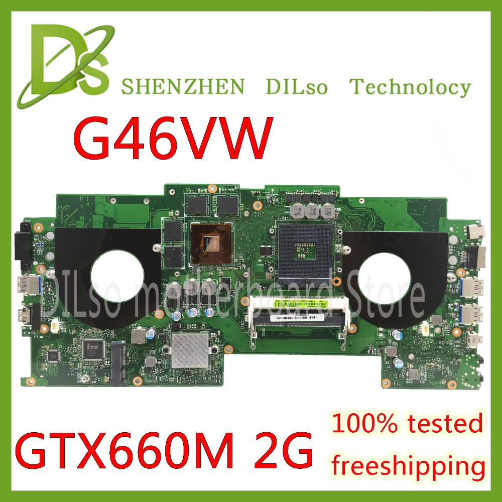KEFU G46VW For ASUS G46V N13E-GE-A2 mainboard REV 2.2 laptop motherboard 60-NMMMB1100-E02 Test work 100% автомобильная рация megajet mj 333 turbo
