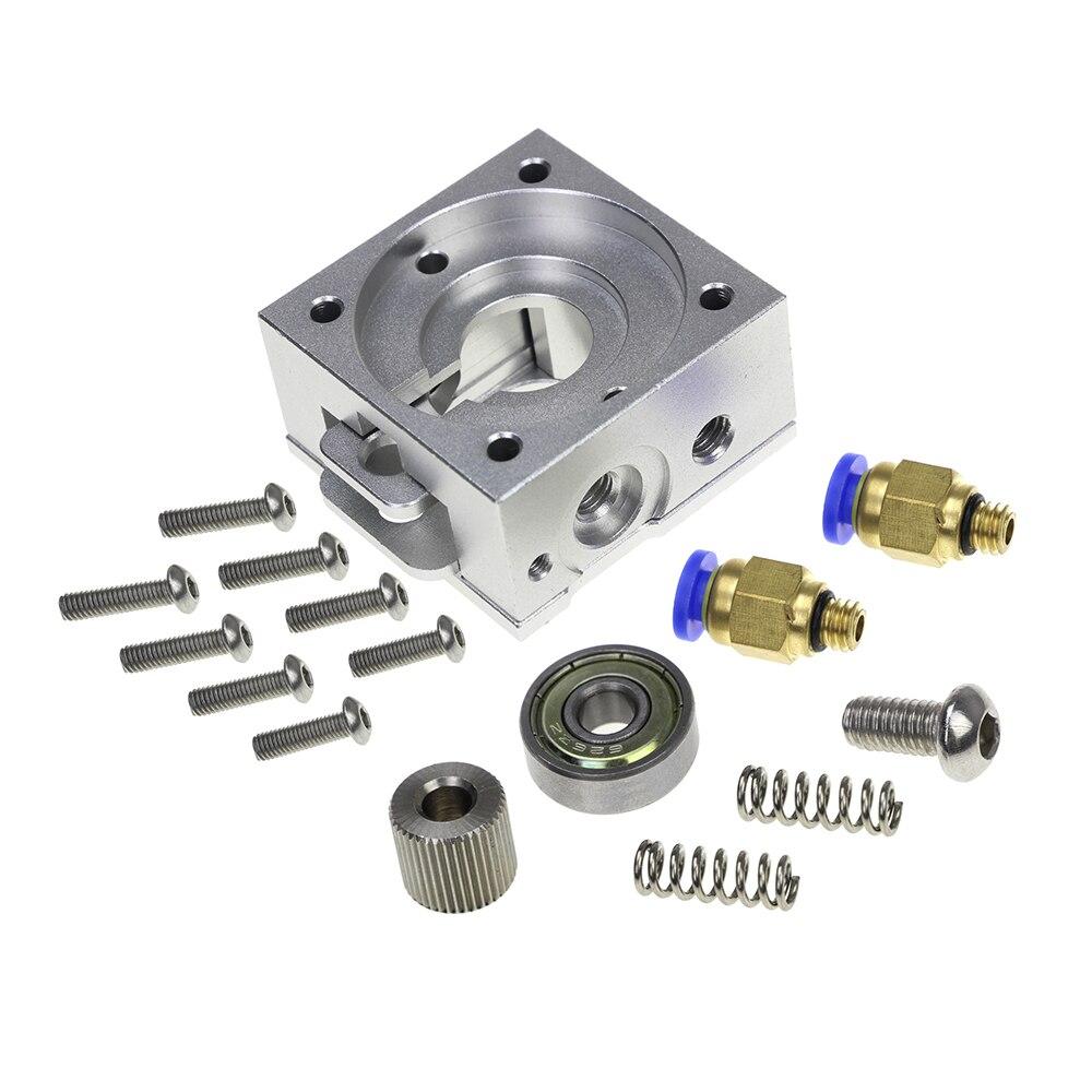 3D Printer Parts All Metal Bulldog both MK8 1.75/3.0mm Filament Aluminum Alloy Fits For J-head MK8 Extruder Remote Proximity
