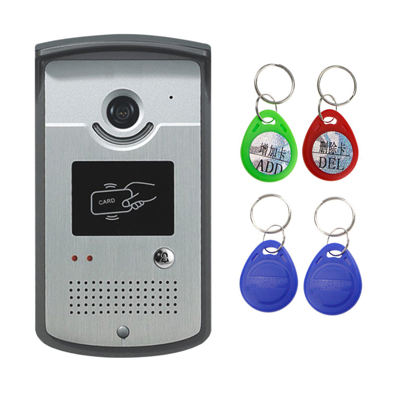 Wired Video Door Phone Intercom System Code Doorbell Camera With CMOS Night Vision Reader Card for
