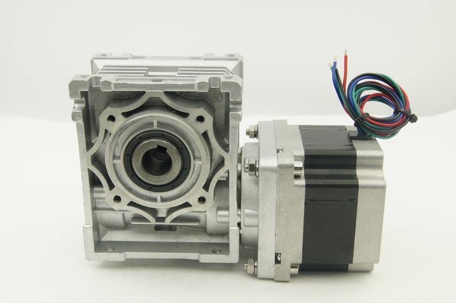 Nema 34 worm gear stepper motor with output shaft 3 3n m for Nema 34 servo motor