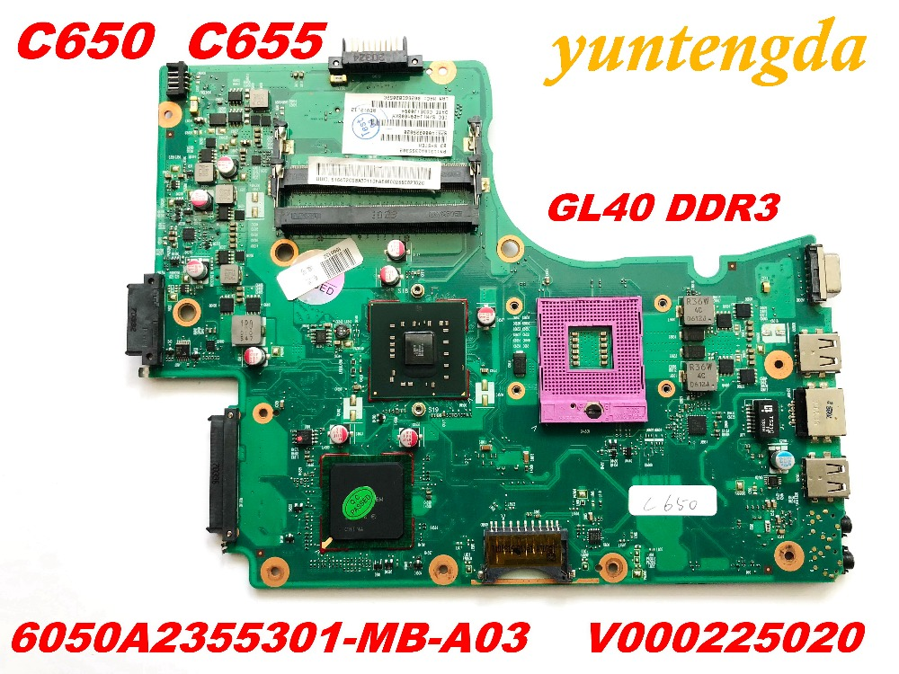 Original for Toshiba  C650  C655 Motherboard 6050A2355301 MB A03 V000225020 GL40  DDR3  tested good free shipping connectors|Laptop Motherboard| |  - title=