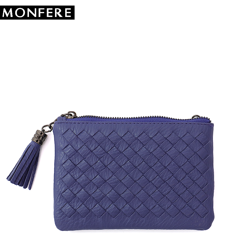 MONFER woven short mini font b wallet b font color women coin purse small font b