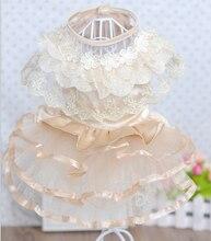 New BF1126 pet Dress Lace Skirt wedding dress pet dog Parfait Dog clothes free shipping