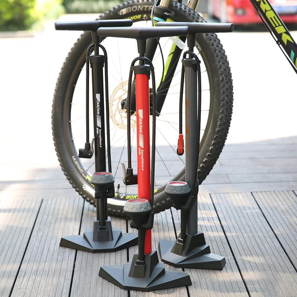 Portable Bicycle Foot Pump Inflator Tire High Pressure Bike Air Inflator //Gauge
