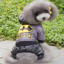 Pet Clothes New Winter Warm Dog Coat Jumpsuit Hoodie Thicken Cotton-Padded Pet Clothing For Teddy Dogs Costume Cat Dog Clothes