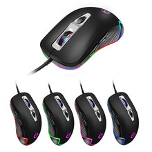 USB Gaming Mouse Cable RGB 6Backlight Macro Programmable Buttons Black Gamer