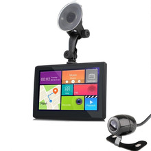 7 Android Car GPS Navigation Wifi FM DVR Video Recorder HD 1080P With Rearview Camera Parking Automobile Navigator 8GB