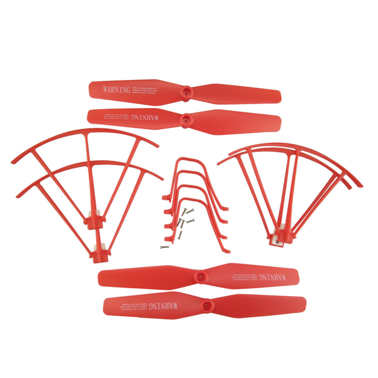 BLLRC four row parts SYMA X5UW X5UC remote control helicopter red protective sleeve font b tripod