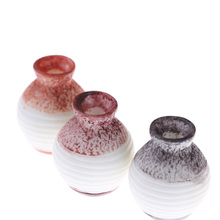 Table Vase Resin Furniture Decor Scale Mini Colored Miniature Flower Pot Jar 1:12 Dollhouse Accessory dollhouse 1 12 scale miniature furniture exquisite white hand piano and stool