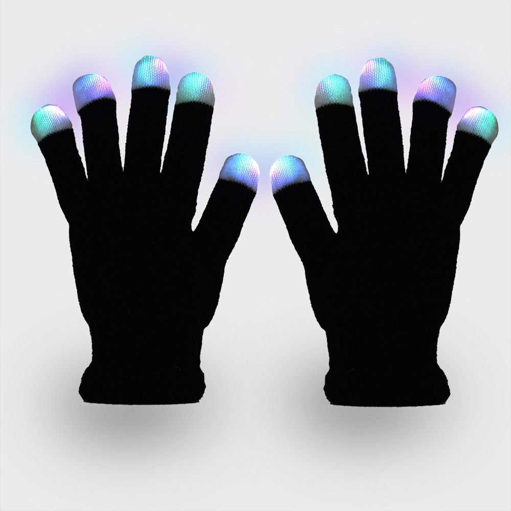 LED toys Gloves Luminous Novelty flashing For Dance Party Hallween christmas bicycle Gift Lights Outdoors fishing gloves
