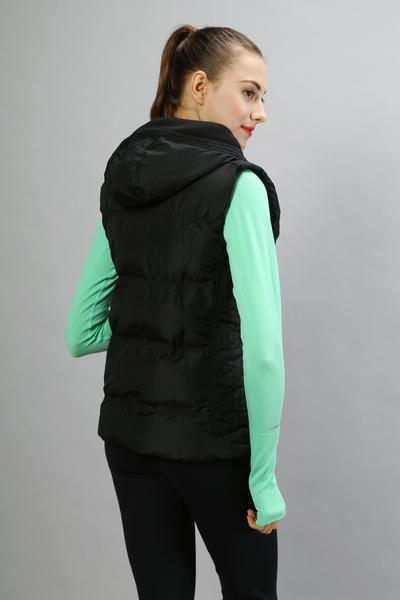 NWT mujer Chaleco de calidad superior impermeable invierno chaleco sin mangas chaqueta al aire libre mantener caliente Abrigo con capucha