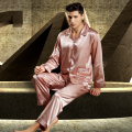 XIFENNI Satin Silk Men Pajamas Luxurious Embroidery Sleepwear Long-Sleeved Pyjama Sets High Quality Casual Home Wear 3315
