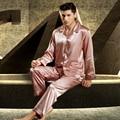 XIFENNI Satin Silk Men Pajamas Luxurious Embroidery Sleepwear Long-Sleeved Pyjama Sets High Quality Casual Home Wear 3315