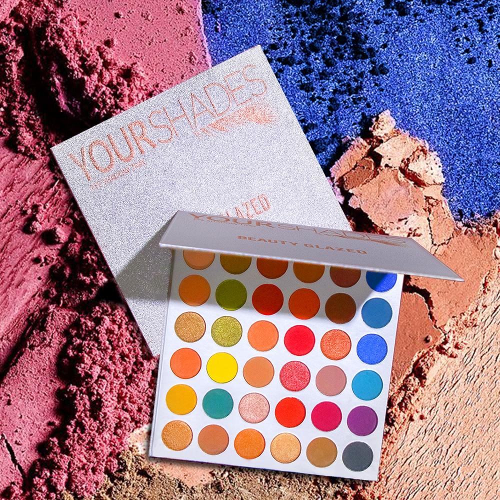 Beauty Glazed Makeup Eyeshadow Palette Shimmer Matte Glitter Eye Shadow Pallete 63 Shades Pigmented Eye Shadow Warm Colors