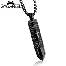 Christian Jewelry Bullet Pendant Necklace