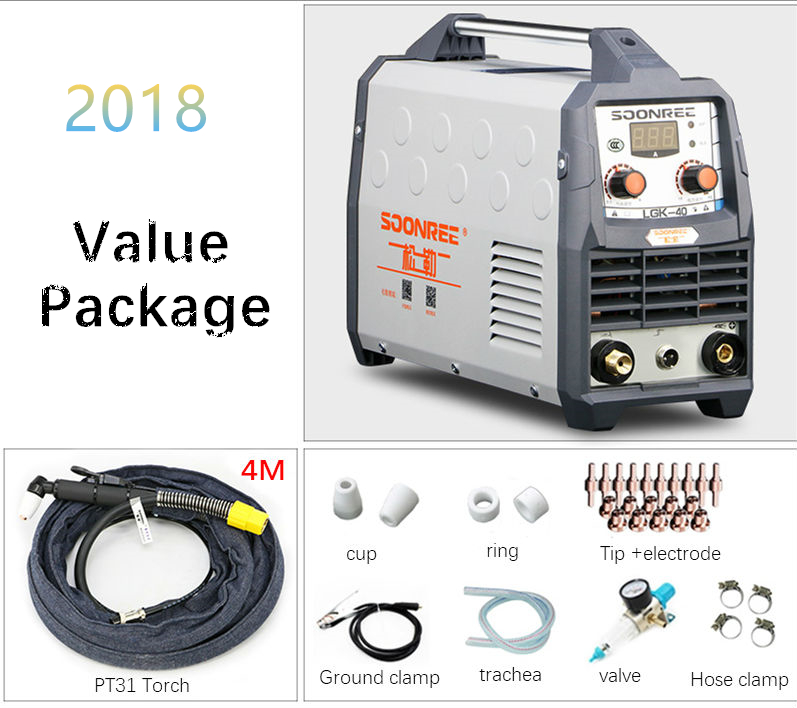 2019 New Plasma Cutting Machine LGK40 CUT50 220V voltage Plasma Cutter With PT31 Free Welding Accessories