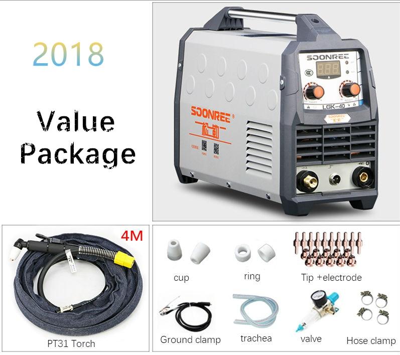 2019 New Plasma Cutting Machine LGK40 CUT50 220V voltage Plasma Cutter With PT31 Free Welding Accessories
